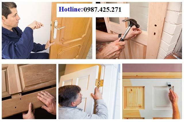 Sửa chữa cửa gỗ tại nhà Hà Nội