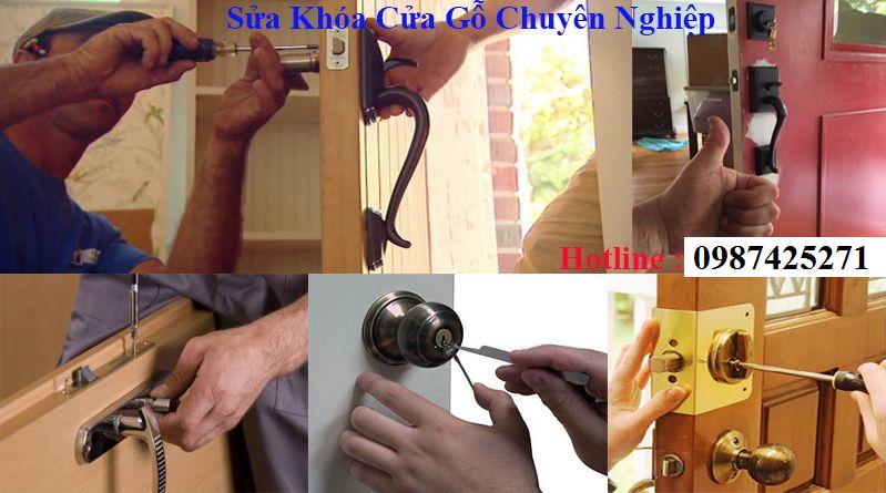 Thợ mộc sửa khóa cửa gỗ tại nhà Hà Nội