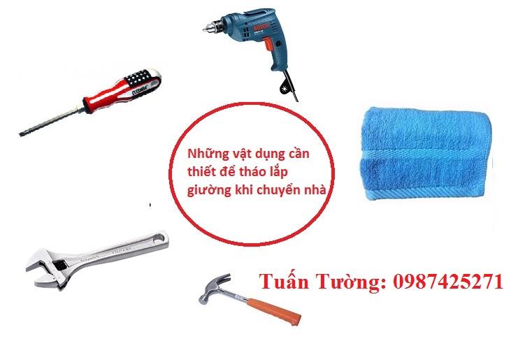 Các dụng cụ cần thiết để tháo lắp giường tủ