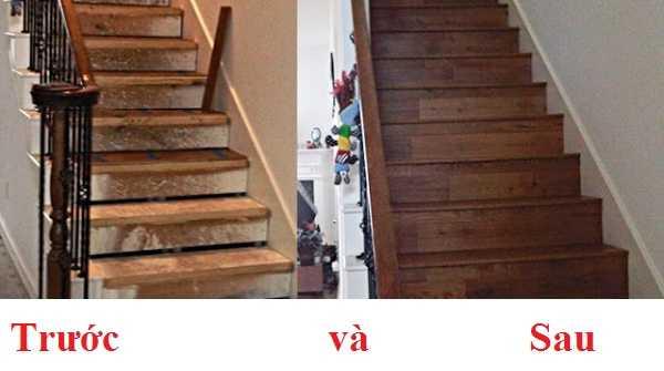 Xử lý các vết xước của cầu thang