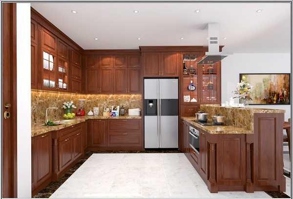 Nên đóng tủ bếp bằng gỗ tự nhiên hay gỗ công nghiệp