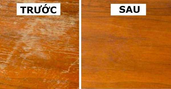 Cách xóa vết xước trên đồ gỗ